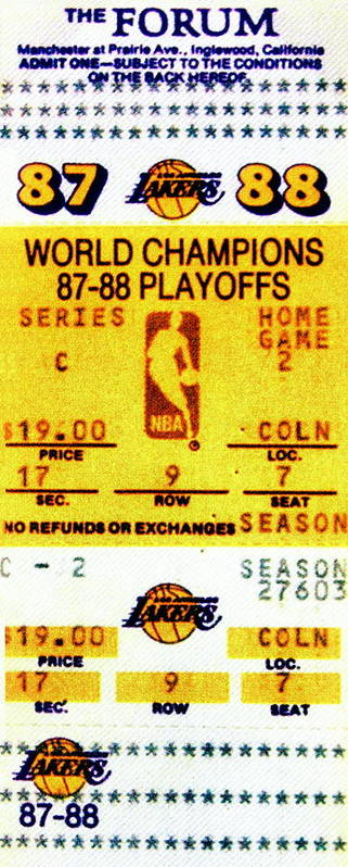 Los Angeles Lakers Poster featuring the photograph Showtime by Benjamin Yeager