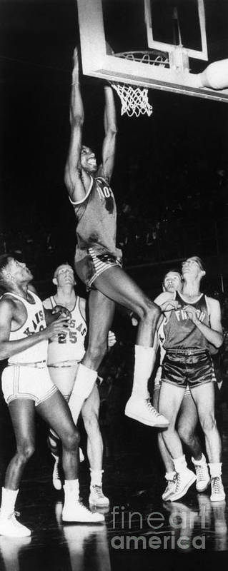 1956 Poster featuring the photograph Wilt Chamberlain (1936-1999) by Granger