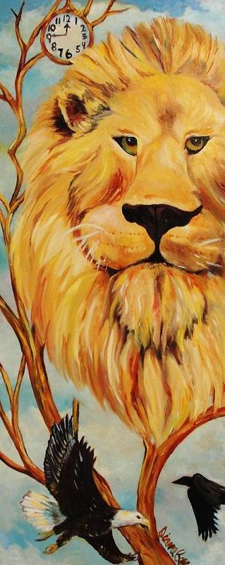 Lion Poster featuring the painting Lion Of Judah by Diana Kaye Obe