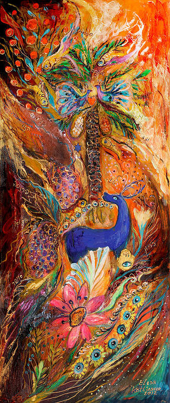 Original Poster featuring the painting Polyptich Part Iv - Earth by Elena Kotliarker