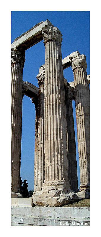 Greece Poster featuring the photograph Citymarks Athens by Roberto Alamino