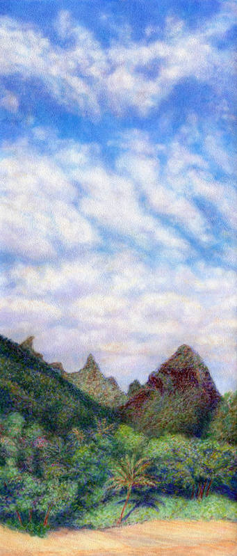 Coastal Decor Poster featuring the painting Island Sky by Kenneth Grzesik