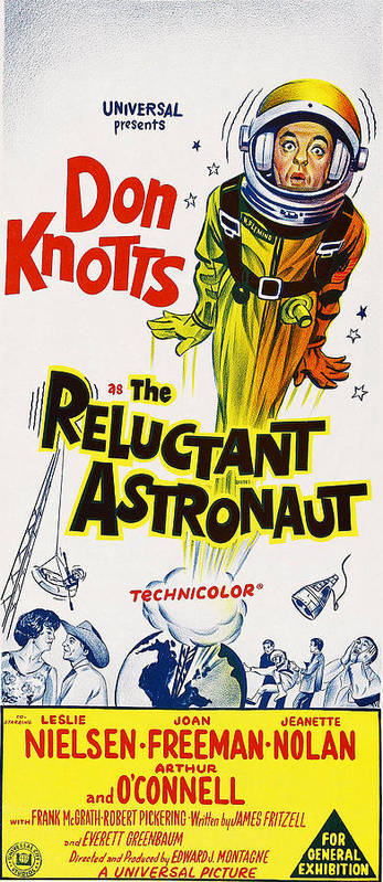 1960s Movies Poster featuring the photograph The Reluctant Astronaut, Upper Right by Everett