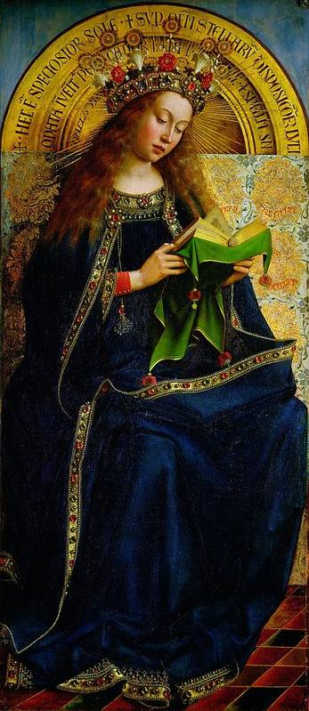 The Poster featuring the painting The Ghent Altarpiece The Virgin Mary by Jan and Hubert Van Eyck