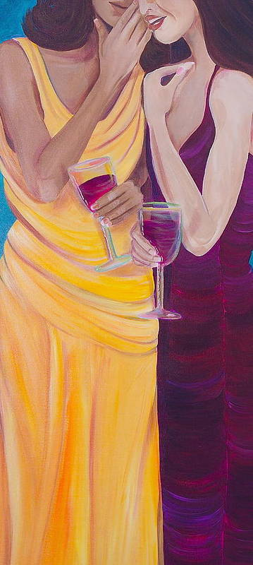 Women Poster featuring the painting The Secret by Debi Starr