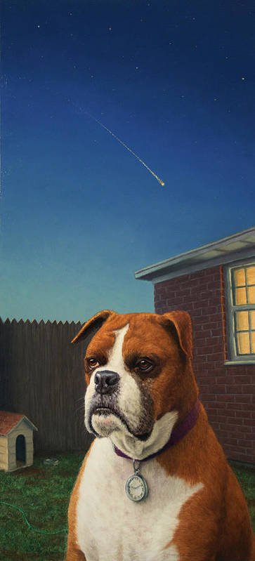 Watchdog Poster featuring the painting Watchdog by James W Johnson