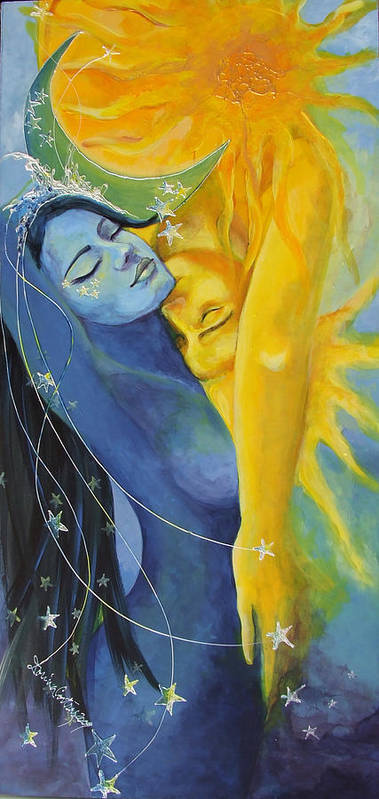 Art Poster featuring the painting Ilusion From Impossible Love Series by Dorina Costras