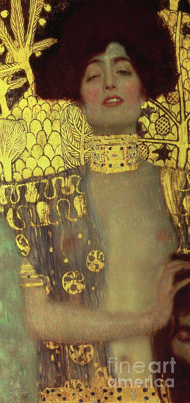 Judith Poster featuring the painting Judith by Gustav Klimt