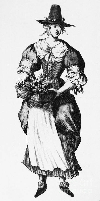 17th Century Poster featuring the photograph Quaker Woman, 17th Century by Granger