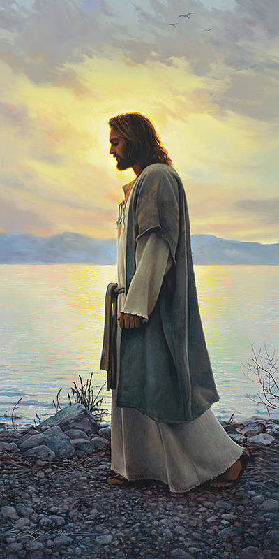 Jesus Poster featuring the painting Walk With Me by Greg Olsen