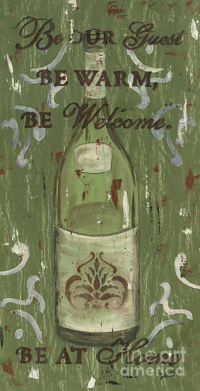 Wine Poster featuring the painting Be Our Guest by Debbie DeWitt