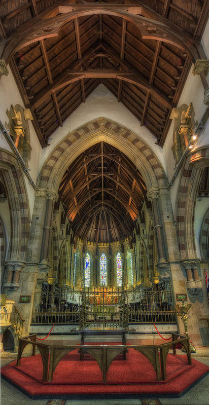 Cathedral Poster featuring the photograph St Peter's Church Vertorama by Ian Mitchell
