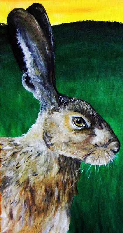 Stacey Poster featuring the painting Mad As A March Hare by Stacey Clarke