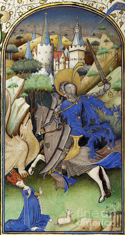 Illustration Poster featuring the photograph Saint George And The Dragon by Getty Research Institute