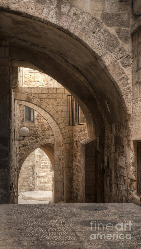 Alley Poster featuring the photograph Alley In Jerusalem by Noam Armonn