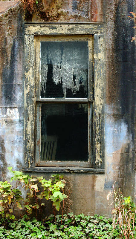 Window In Old Wall Poster featuring the photograph Window In Old Wall by Jill Battaglia