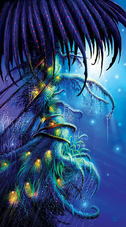 Dreaming Tree Poster featuring the painting Dreaming Tree by Philip Straub