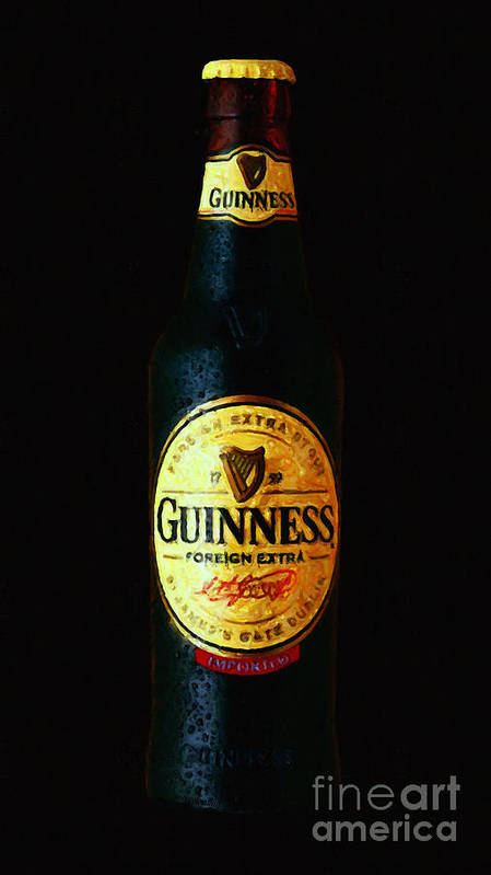 Beer Poster featuring the photograph Guinness by Wingsdomain Art and Photography