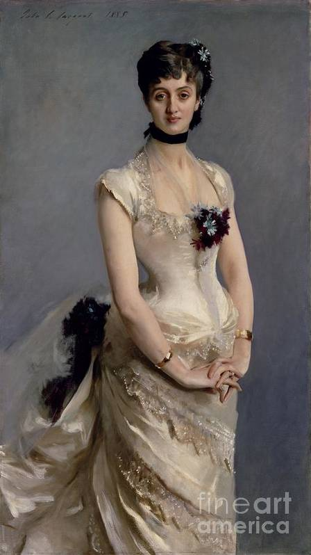 Madame Poster featuring the painting Madame Paul Poirson by John Singer Sargent