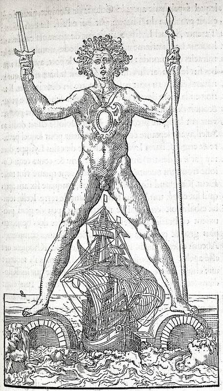 Colossus Of Rhodes Poster featuring the photograph Colossus Of Rhodes, 16th Century Artwork by Middle Temple Library