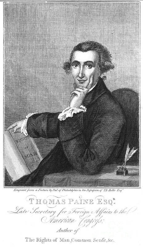 18th Century Poster featuring the photograph Thomas Paine (1737-1809) by Granger