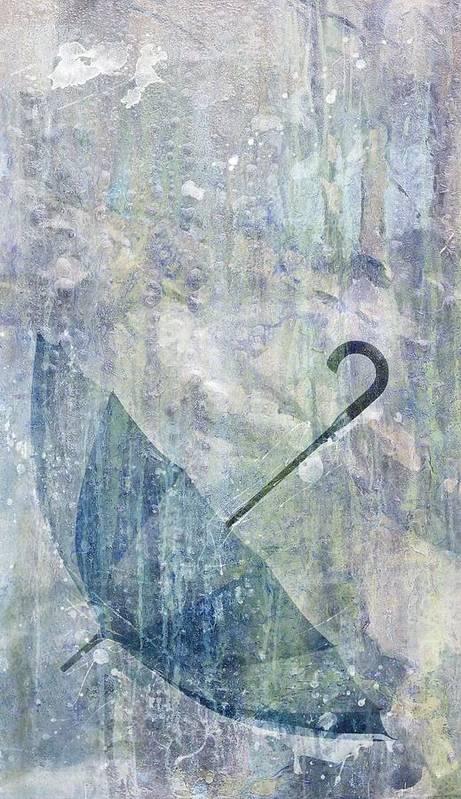 Brett Poster featuring the digital art Umbrella by Brett Pfister