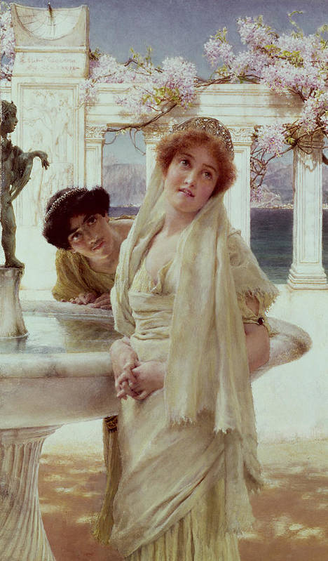 Difference Poster featuring the painting A Difference Of Opinion by Sir Lawrence Alma-Tadema