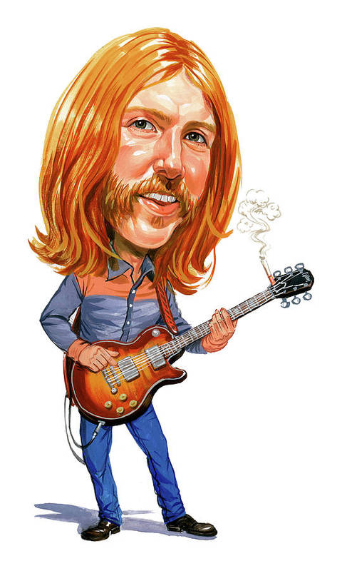 Duane Allman Poster featuring the painting Duane Allman by Art
