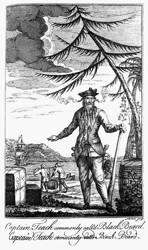 18th Century Poster featuring the photograph Edward Teach (?-1718) by Granger
