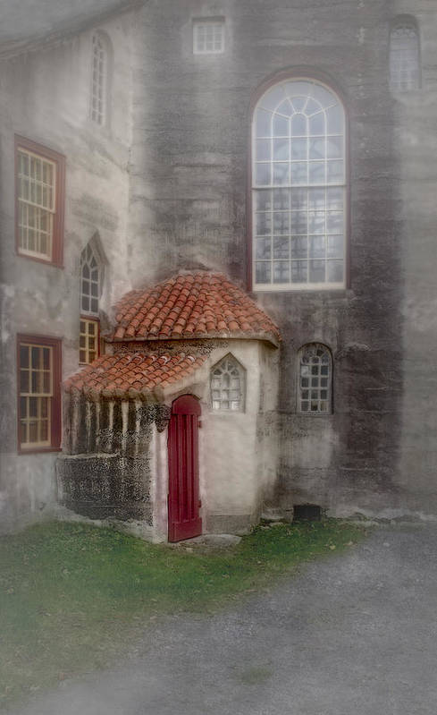 Byzantine Poster featuring the photograph Back Door To The Castle by Susan Candelario