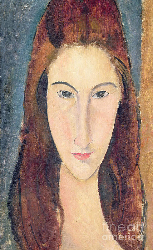 Modigliani Poster featuring the painting Jeanne Hebuterne by Amedeo Modigliani