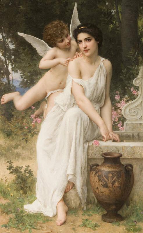 Love's Whisper Poster featuring the digital art Loves Whisper by Charles Lenoir