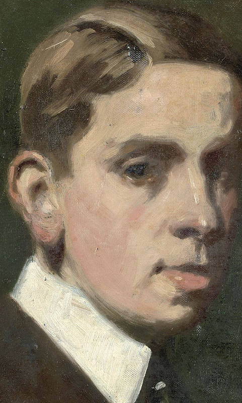 Self Portrait Poster featuring the painting Self Portrait by Francis Campbell Boileau Cadell