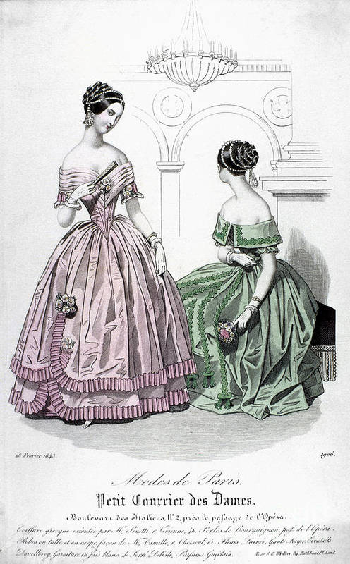 1843 Poster featuring the photograph Womens Fashion, 1843 by Granger