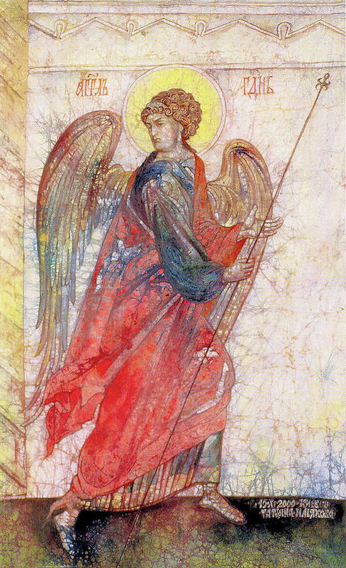 Contemporary Art Poster featuring the painting Angel by Tanya Ilyakhova