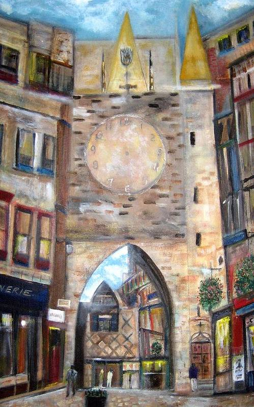 Cityscape Poster featuring the painting Cityscape European by Rick Todaro
