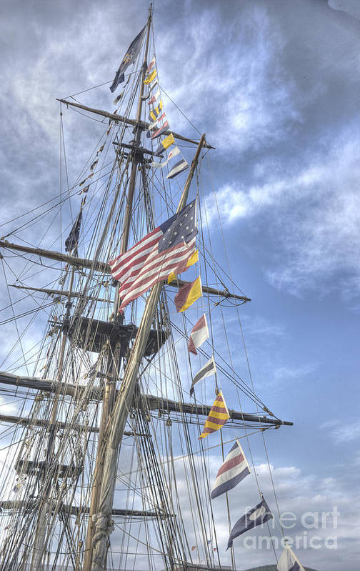 Tall Ships Poster featuring the photograph Flagship Niagara by David Bearden