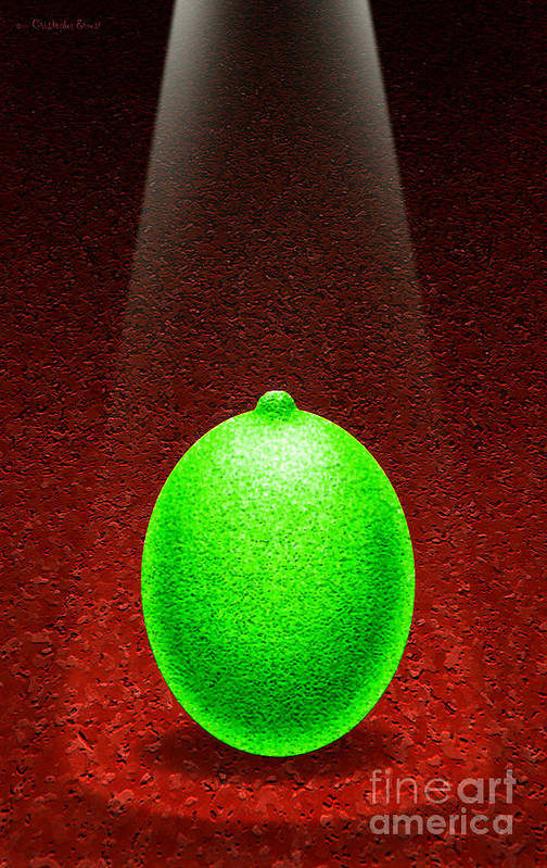 Lime Poster featuring the digital art Limelight by Cristophers Dream Artistry