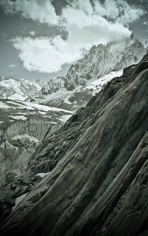 Mont Blanc Poster featuring the photograph Mont Blanc Glacier by Frank Tschakert