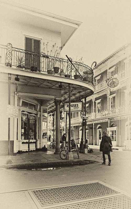 French Quarter Poster featuring the photograph Rouses Market Sepia by Steve Harrington