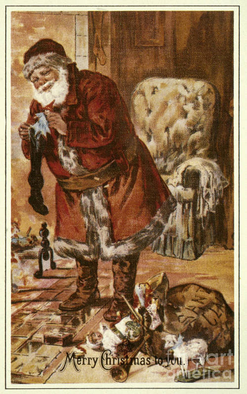 19th Century Poster featuring the photograph American Christmas Card by Granger