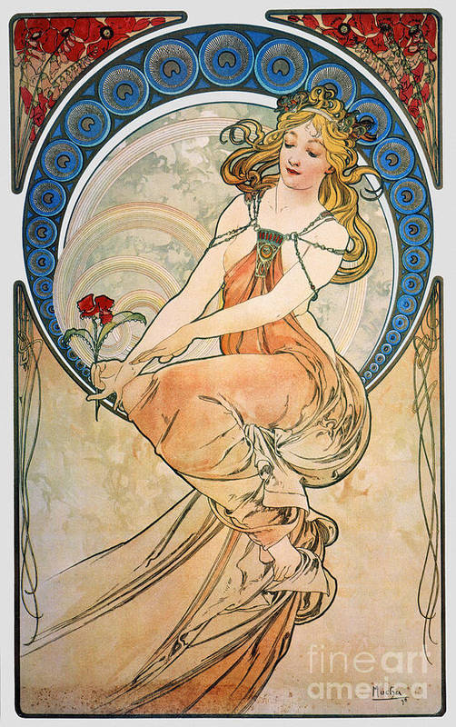 1898 Poster featuring the photograph Mucha: Poster, 1898 by Granger