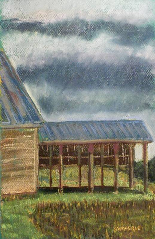 Plein Air Painted Poster featuring the pastel It Once Had A Use by Tim Swagerle
