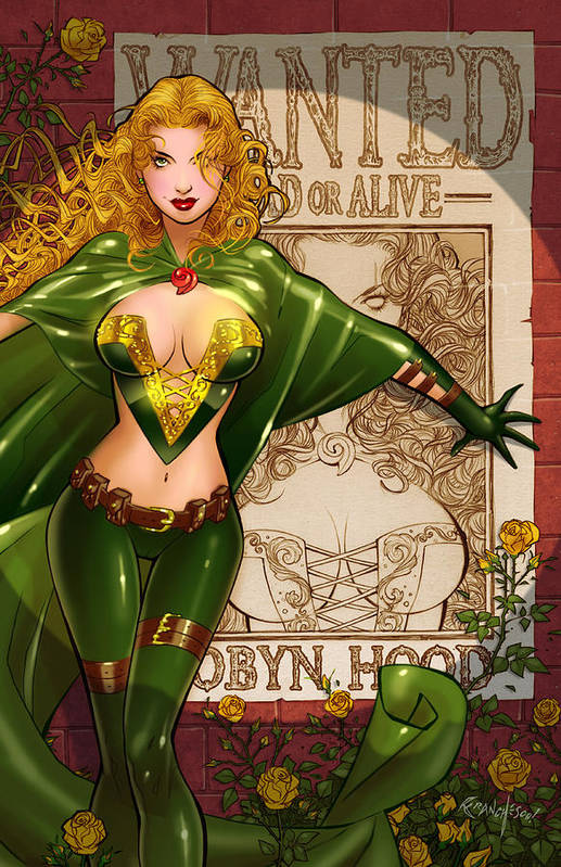 Grimm Fairy Tales Poster featuring the drawing Robyn Hood 03e by Zenescope Entertainment