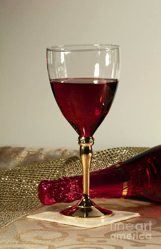 Sparking Wine For One Poster featuring the photograph Sparkling Wine For One by Inspired Nature Photography Fine Art Photography