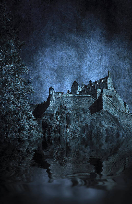 Abbey Poster featuring the photograph Dark Castle by Svetlana Sewell