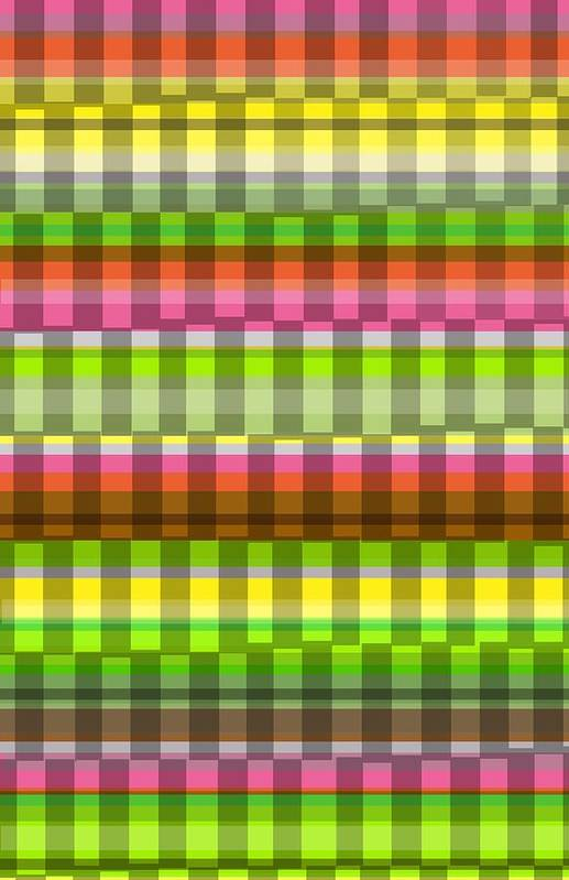 Party Stripe (digital) By Louisa Knight (contemporary Artist) Poster featuring the photograph Party Stripe by Louisa Knight
