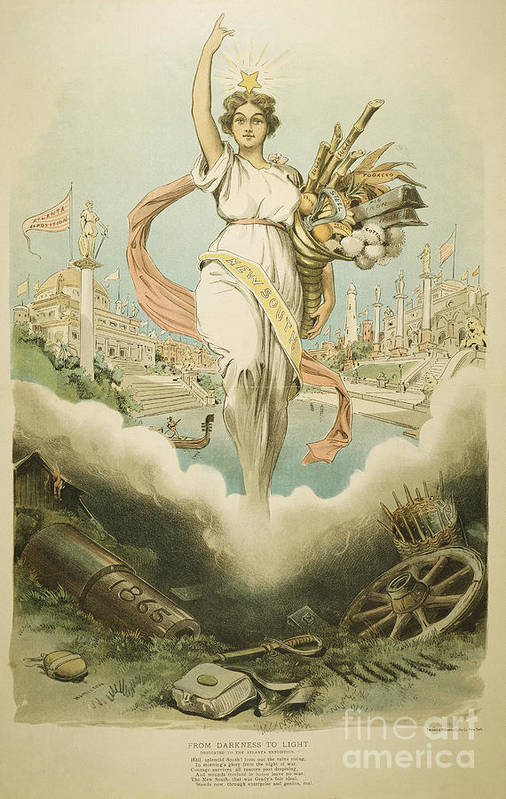 1895 Poster featuring the painting Atlanta Exposition, 1895 by Granger
