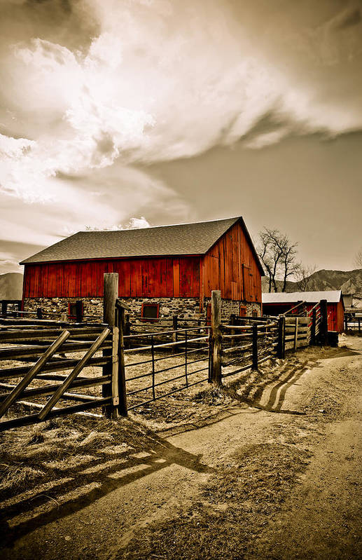 Americana Poster featuring the photograph Old Country Farm by Marilyn Hunt