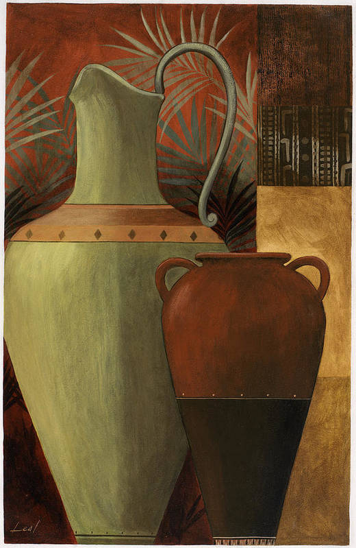 Pablo Poster featuring the painting Chines Urn 2 by Pablo Esteban